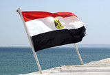 Egyptian Flag and Red Sea