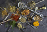 Spices used to add flavor to cooking. poster