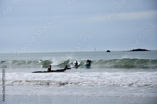 surf, saint-mall, paddle - 197783055