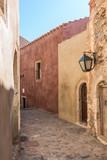 Monemvasia, Greece.  streets of Byzantine town of Monemvasia, Greece