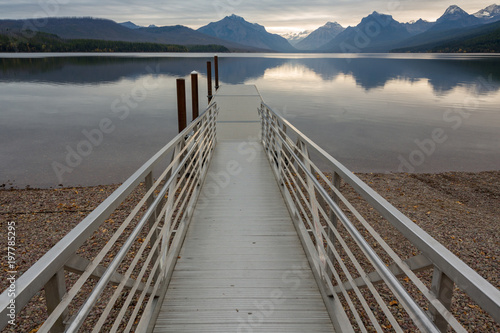 Plexiglas Pier Dock At Dawn