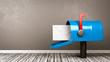 Leinwandbild Motiv Mailbox in the Room with Copy Space