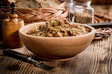 Bigos - stewed cabbage with meat,dried mushrooms and smoked sausage. - 197792815