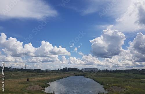 Fotobehang Bleke violet River