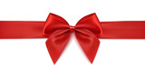 Red ribbon. Gift decoration - vector - 197803036