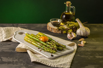 Asparagus cooked with egg © homydesign