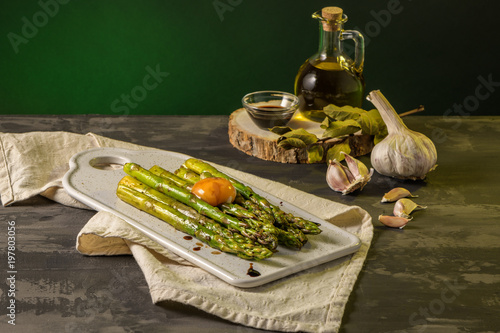 Asparagus cooked with egg