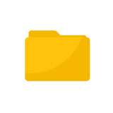 Simple Flat minimalist blank folder icon - 197817215