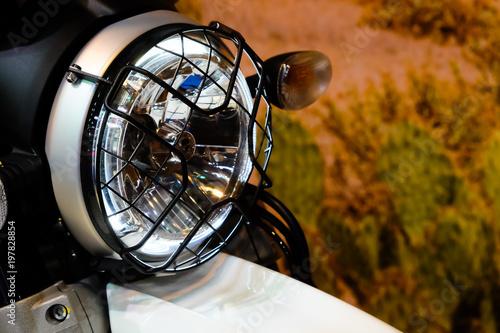 In de dag Fiets vintage classic Motorcycle headlight