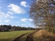 Leinwandbild Motiv Naturlandschaft im Frühling lädt zum Wandern ein