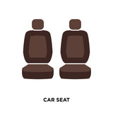 car seat icon isolated on white background for your web, mobile and app design