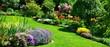 Leinwanddruck Bild - beautiful garden panorama