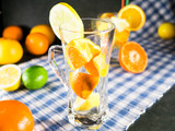 Fresh and juicy citrus fruits are ready for preparing of ice cold citronade, perfect for summer heat. Summer is coming.