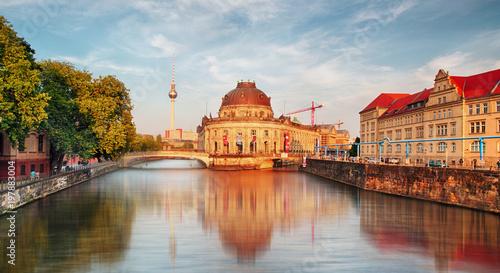 Poster Berlijn Bode Museum located on Museum Island, a UNESCO-designated World Heritage Site on Berlin, Germany