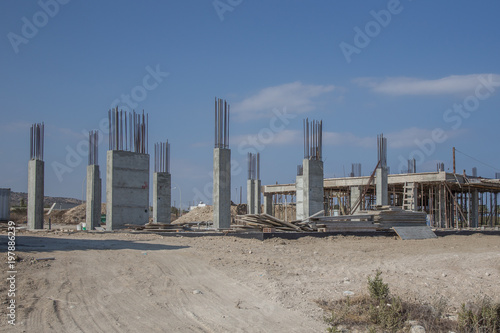 Fotobehang Cyprus Unfinished building in Cyprus