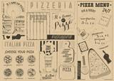 Pizza Menu Placemat - 197895047