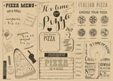 Pizza Menu Placemat - 197895076