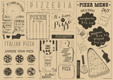 Pizza Menu Placemat - 197895221