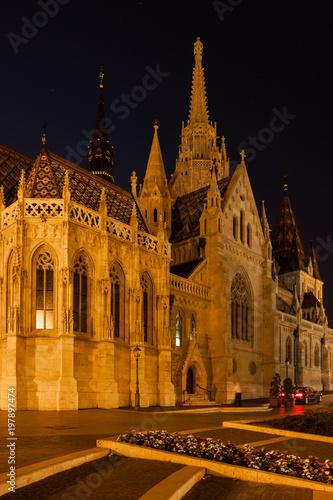 Matthias Church at Night in Budapest