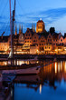 Old Port City of Gdansk at Twilight Evening in Poland - 197897830
