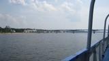 River, landscape, sky, bridge
