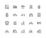 Urban transport icon set