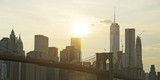Manhattan Skyline mit Sonne