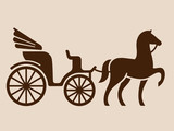 Fototapety Vintage horse drawn carriage
