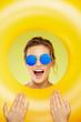 Quadro Summer Fun. Beautiful Woman Wearing Sunglasses.