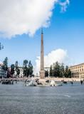 Obelisk in piazza del popolo square in Rome Italy