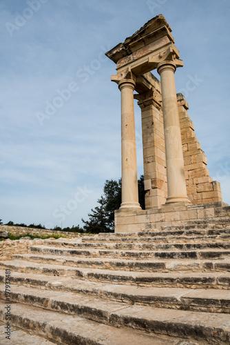 Fotobehang Cyprus Ancient columns of Apollon Hylates in Limassol district, Cyprus