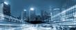 Leinwanddruck Bild - Night traffic in a Megacity