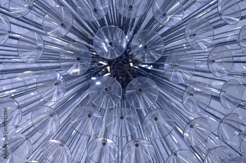 Abstraction of a fragment of a chandelier from a glass - 197942096