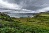 Dramatic cloudy landscape in Scotland north coast between Durness and Thurso, Britain - 197942294