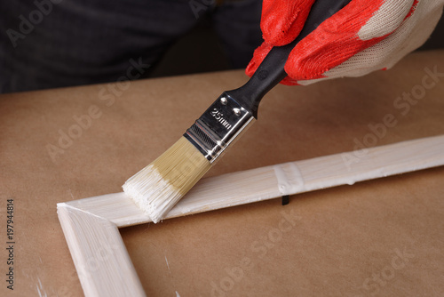 Painting a wooden frame