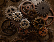 Assorted old metal grunge gears