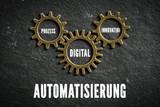Automatisierung bestehend aus Komponenten Prozess, Digital und Innovation