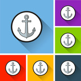 anchor icons with long shadow