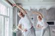 Leinwanddruck Bild - Senior couple at home