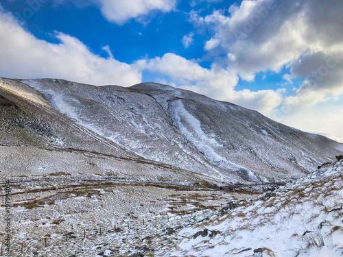 Plexiglas Grijs Winter in Snowdonia, Wales, UK