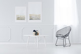 Wire chair and coffe table