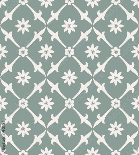 Fototapeta Simple seamless floral pattern