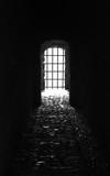 spooky gate in tunnel
