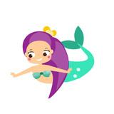 Cute cartoon mermaid chacrater