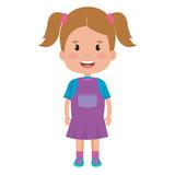 little girl avatar character vector illustration design