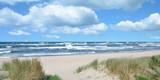 stürmischer Tag an der Ostsee auf der Insel Rügen nahe dem Seebad Baabe,Mecklenburg-Vorpommern,Deutschloand