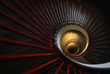 Abstract detail of a spiral staircase