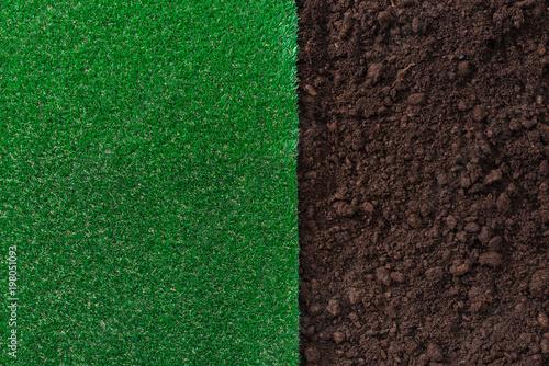 Fototapeta Soil and grass