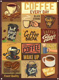 Coffee vector emblems