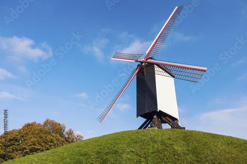 Foto op Canvas Brugge Windmill in Bruges